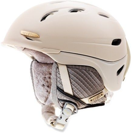 Gorgeous winter helmet - Smith Voyage Snow Helmet $120 Gold details. Yum.