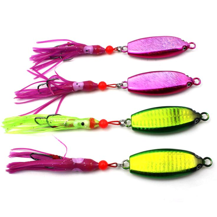 50PCS 60G / 110G / 150G Sea Bass Snapper Fishing Lures Trolling Lead Jigs Pink Blue Color Holographic Quality Saltwater Lure