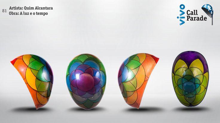 """""""A Luz e o Tempo"""" obra do artista plástico Quim Alcantara para a Vivo Call Parade  http://quim.com.br/call-parade-a-luz-e-o-tempo/"""