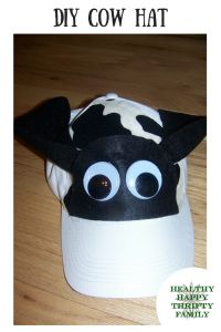 DIY Cow Hat for a Cow Costume