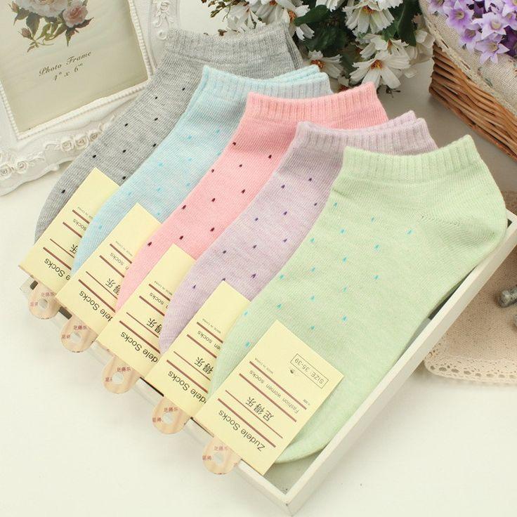 Women's 100% Cotton 5-pair Socks