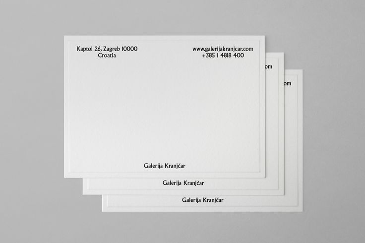 Logotype, brochures, stationery and tote bags designed by Bunch for Zagreb-based modern art gallery Galerija Kranjčar.