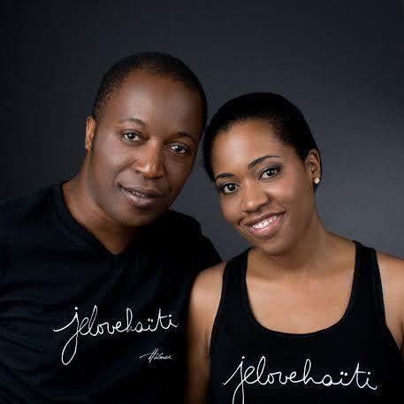 The v-neck tee for men & the black cami. Photo: Naskademini Make-up: Mindy Shear