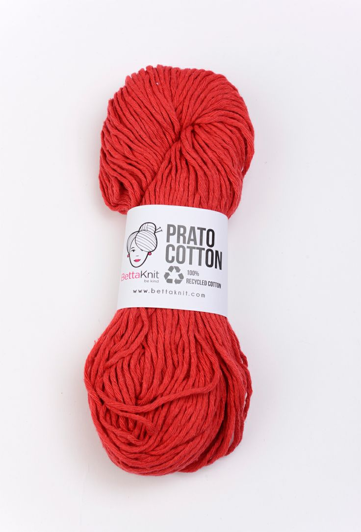 Prato Cotton - Red 100% recycled – 100% ecological www.bettaknit.com