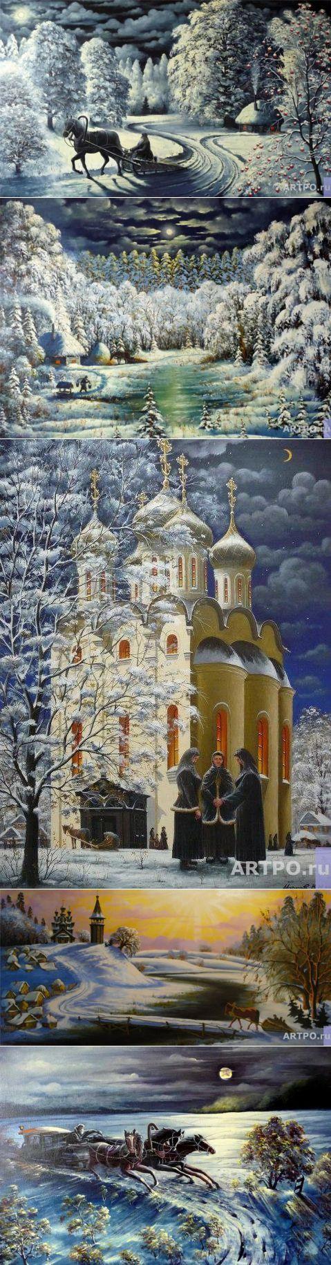 Сказочное и исконно русское. Веет теплом, домом, спокойствием. Владимир Марков    искусство   Постила