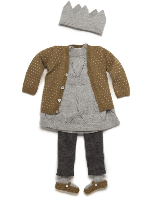 Oeuf, via Darling Dexter: Numtag Outfit, Little Girls, Little Princess, Dress, Grey, Fall Outfit, Kid, Color Combination