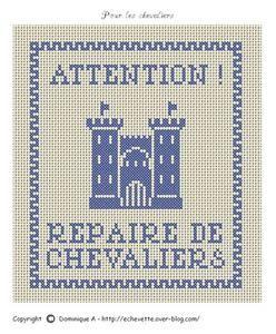 Bébé - baby - chevalier - point de croix - cross stitch - Blog : http://broderiemimie44.canalblog.com/