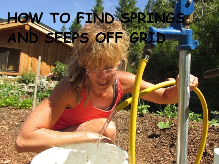 Serious business finding water.Seeps, springs, what do they look like? How do you locate one once you start looking for property? Do you hire someone? Do you...