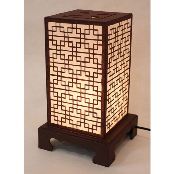 Paper Table #lamp  Shade with Classic Lattice Window Lantern Light