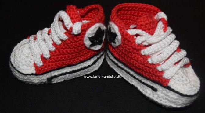 Hæklede Converse sko
