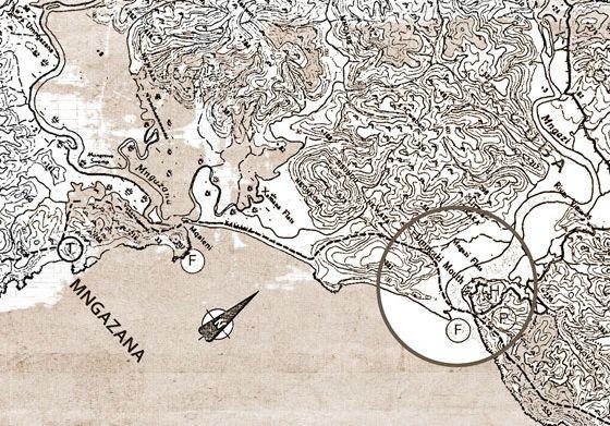1922 Umngazi History map.  Umngazi River Bungalows and Spa - Award-winning family resort and spa - Wild Coast, Eastern Cape, South Africa.