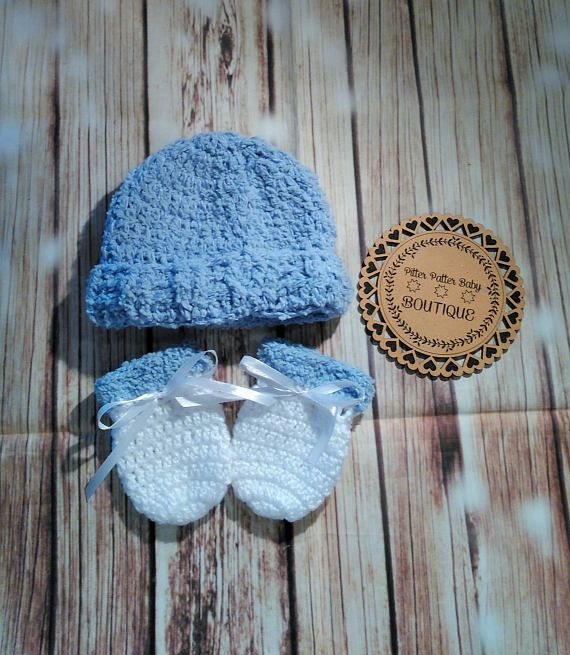Hey, I found this really awesome Etsy listing at https://www.etsy.com/au/listing/528918919/white-and-blue-crochet-baby-boys-beanie