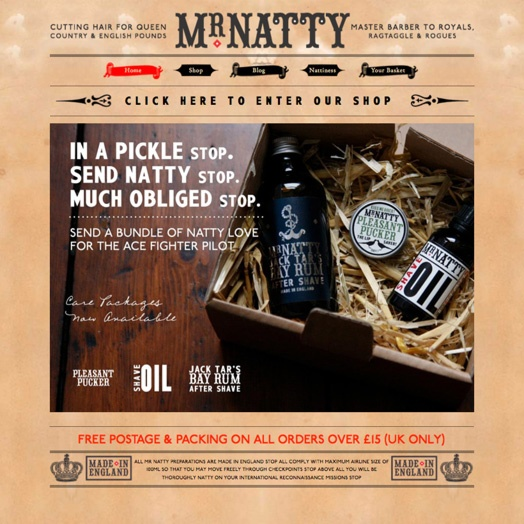 Mr Natty: master barber and purveyor of excellent gentlemen's products.  http://mrnatty.com