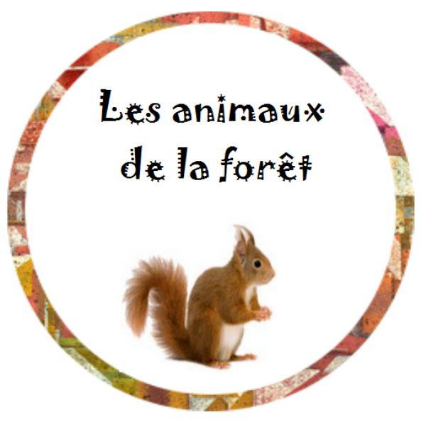 Vocabulaire - les animaux de la forêt - Nurvero