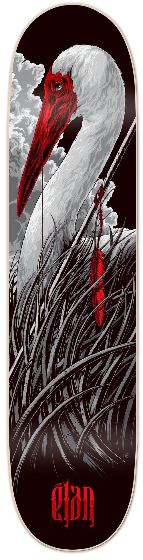 Elan Skateboard Deck | Ken Taylor