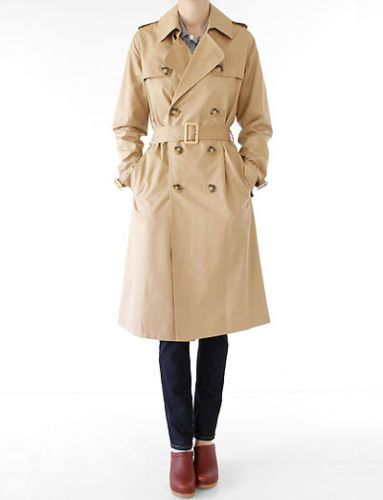 APC A.P.C. classic biege ladies trench coat heavy cotton overcoat mac 38 10 | eBay  - I think this one is darker than the one APC is currently selling. Not sure if it is your size though...