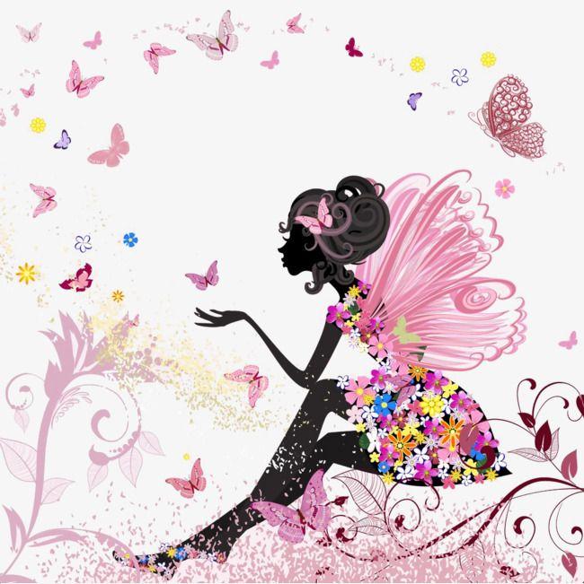 Butterfly Girl Clip Art