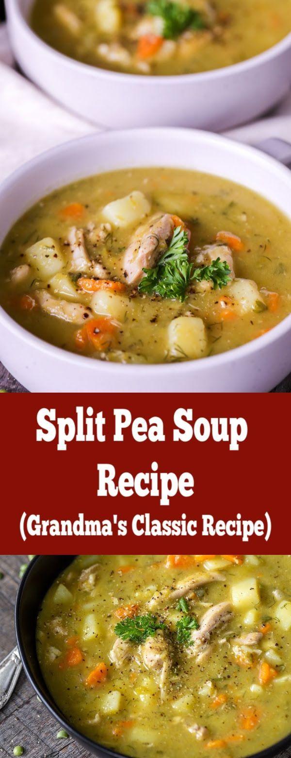 A healthy and nutritious split pea soup, grandmas recipe ...