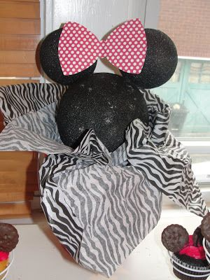 Minnie Party Decor (Zebra, Pink and Red)