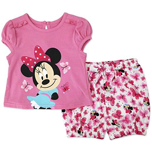 Disney Cartoon Characters Baby-Girl Short Set (Minnie Pink)  5acdccc0cc64