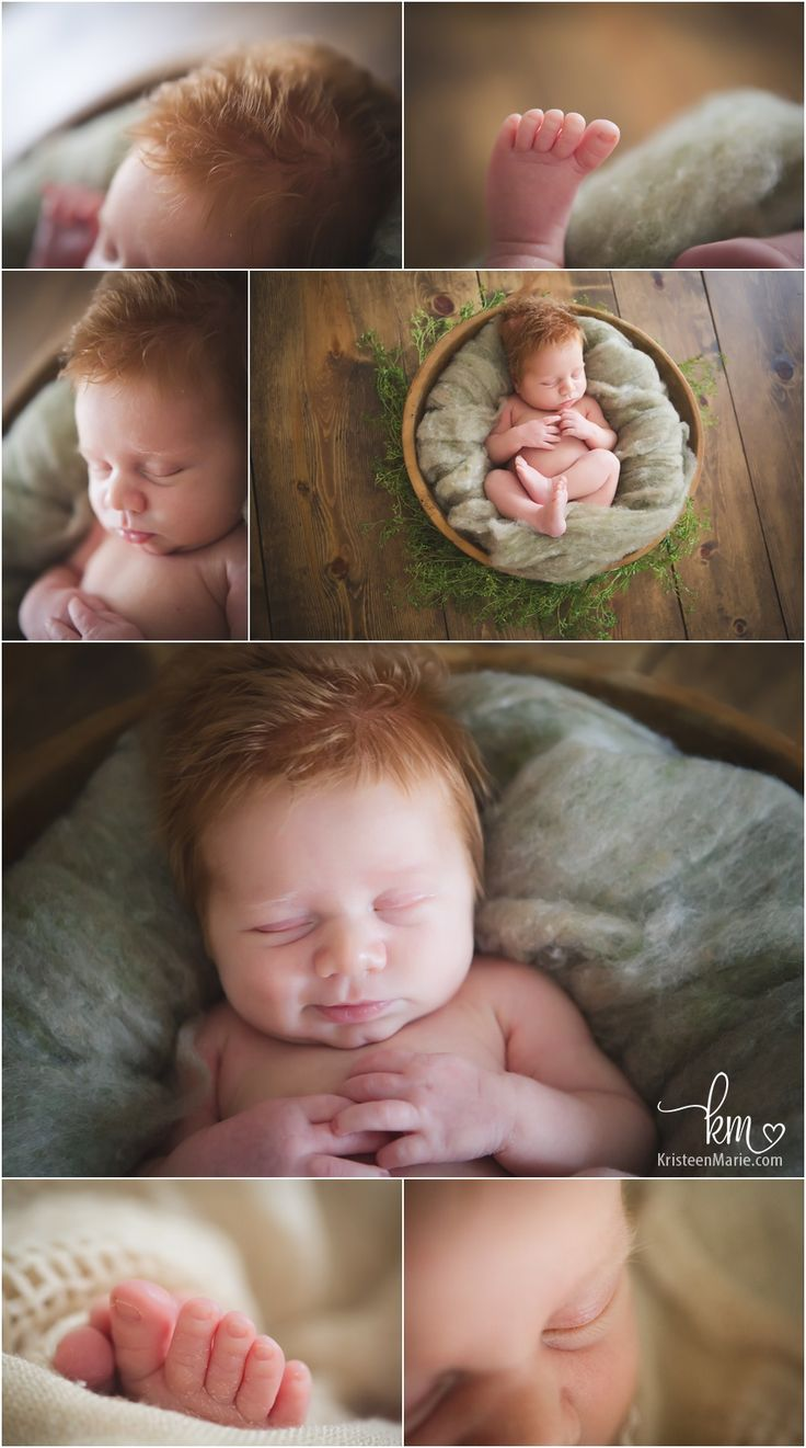 Zionsville newborn photography - newborn boy with red hair