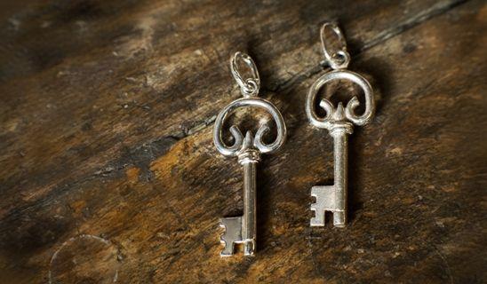 Zawieszka-klucz wykonana według wzoru.  #zawieszka #klucz #srebro #prezent #wzór #kluczyk #key #gift