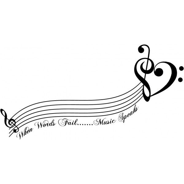 Tatouage temporaire décalcomanie partition musicale - www.tattoo-sticker.com