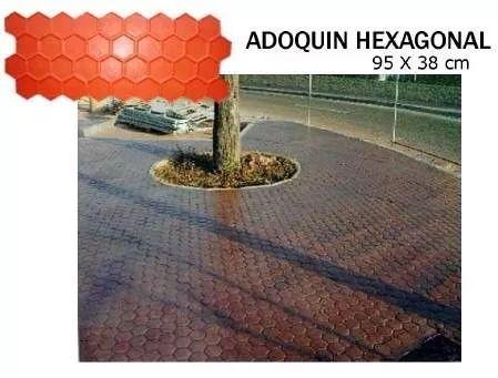 Molde Para Concreto Estampado Adoquin Hexagonal