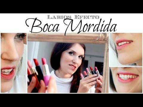 """Labios Efecto """"BOCA MORDIDA"""" - Tendencias Maquillaje 2015 - San Valentín - YouTube"""