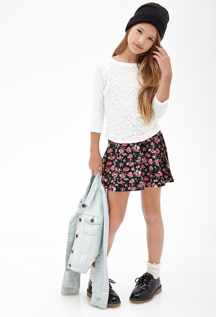 Floral Lace Raglan Top (Kids) #F21Girls. I would like one ...