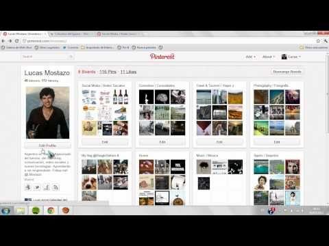Tutorial básico de cómo utilizar la red social Pinterest. Pinterest para novatos. Sígueme en las redes sociales! Soy @LMostazo :) También estoy en: Twitter--...