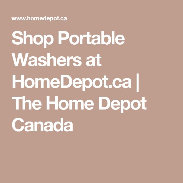 home depot portable washing machine
