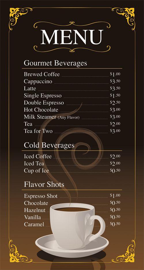 Coffee Menu Ideas