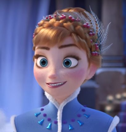 Anna, in her new winter dress and outfit design - Olaf's Frozen Adventure