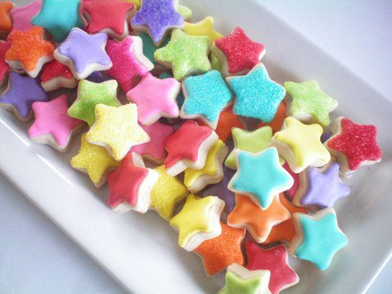 Mini Star sugar cookies by StephanieJsCreations on Etsy, $25.00