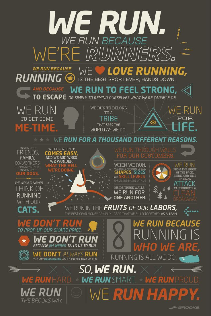We run because we're runners