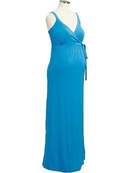 Maternity Cross-Front Maxi Dresses