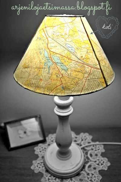 Old map lampshade (my home)