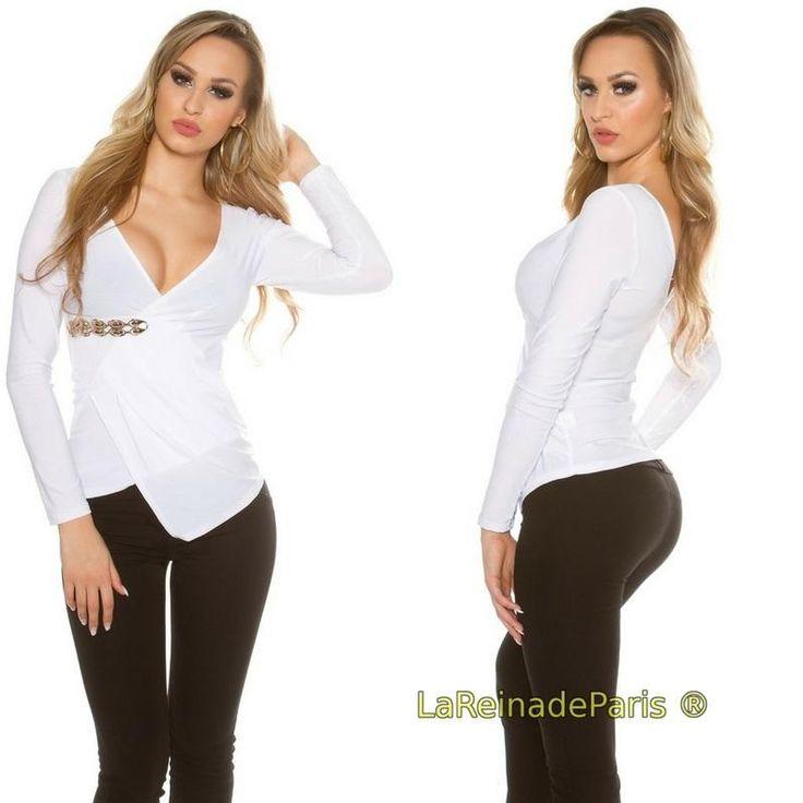 Blusa blanca cruzada