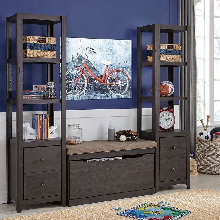 That Furniture Outlet - Minnesota's #1 Furniture Outlet. We have exceptionally low everyday prices in a very relaxed shopping atmosphere. Ashley Javarin Grayish Brown Bookcase with Large UPH Storage Bench http://ift.tt/2bbD6DE #thatfurnitureoutlet  #thatfurniture