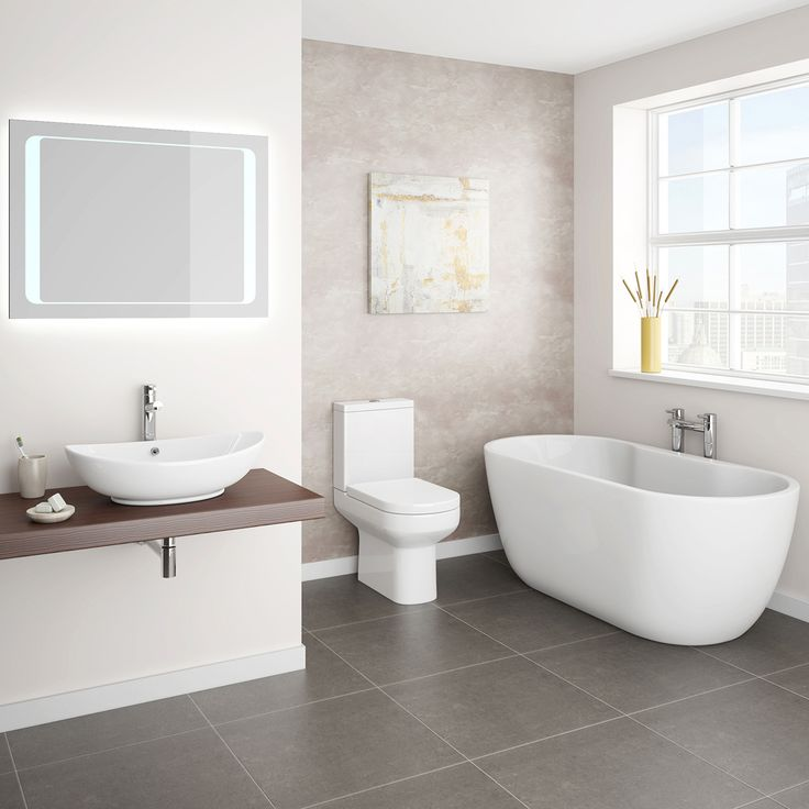 Antonio 1555mm Double Ended Curved Free Standing Bath Suite Part 97