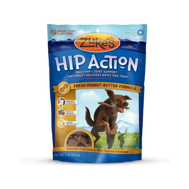 Hip Action Treats with Glucosamine Peanut Butter 1 lbs.