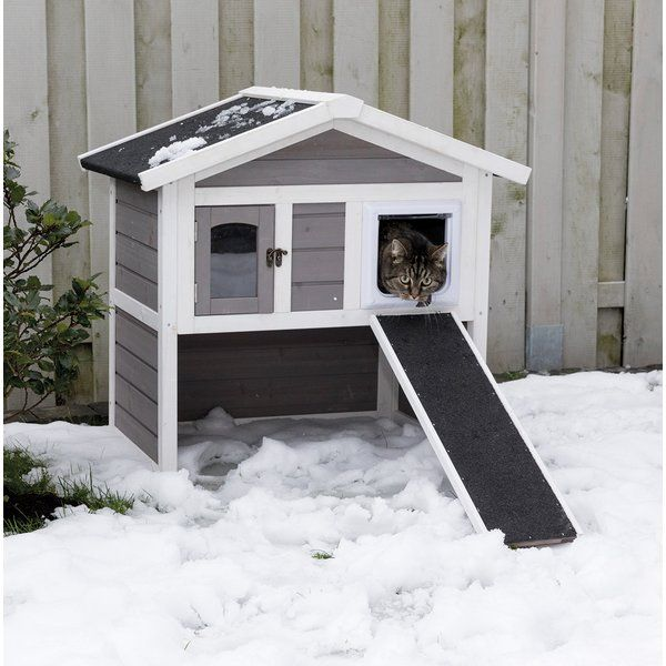 Outdoor Cat Shelter For Winter For Multiple Cats 30 H X 21 5 W X 29 5 D Inches Outdoor Cat House Cat House Diy Feral Cat House