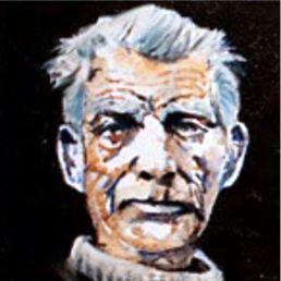 Samuel Beckett Oil &watercolor on canvas 20x20