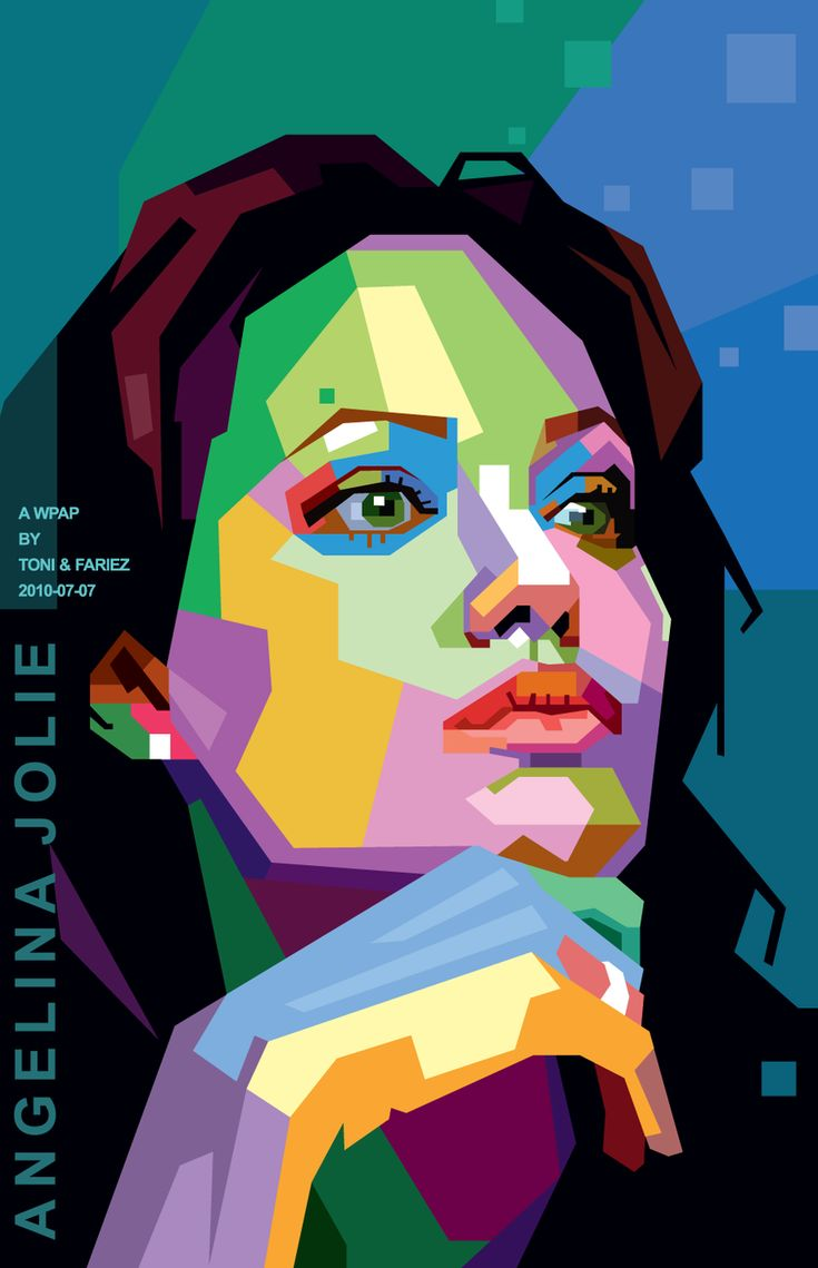 Angelina Jolie in WPAP by toniagustian.deviantart.com on @deviantART