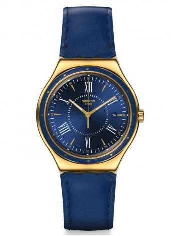 SWATCH moonstep on water blue leather strap YWG400 http://kloxx.gr/brands/swatch-1/swatch-moonstep-on-water-blue-leather-strap-ywg400