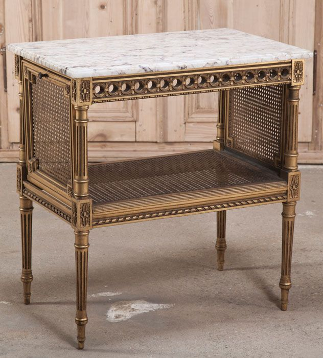 Antique French Louis XVI Tea Serving Table | Antique Furniture | Inessa Stewart's Antiques