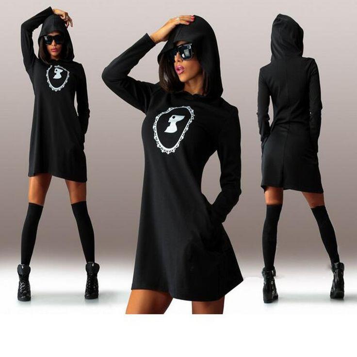 Мода Зимние толстовки с капюшоном Женщины с длинным рукавом Спортивные костюмы печати Толстовки белый пиджак плюс размер черный пуловер