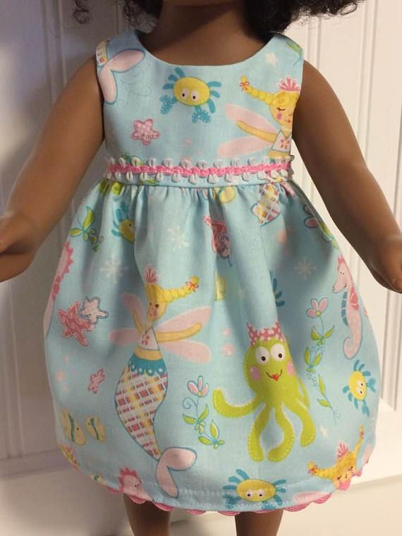 Dress for 18 inch doll can fit American Girl Journey