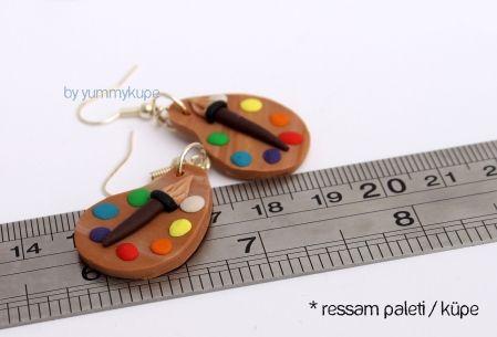 Ressam Paleti  #fashion #design #miniature #food #art #miniaturefoodart #polymerclay #clay #minyatur #polimerkil #kil #nutella #tasarim #taki #sanat #moda #sokak #tutorial #yummykupe #mold #kalip #nasil #bileklik #kolye #kupe #yuzuk #aksesuar #kadin #ring #earring #accesorie #necklace #palette #painter #colour #ressam #palet #ressampaleti